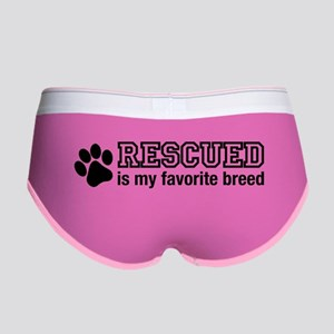 Rescued is My Favorite Breed Women's Boy Brief