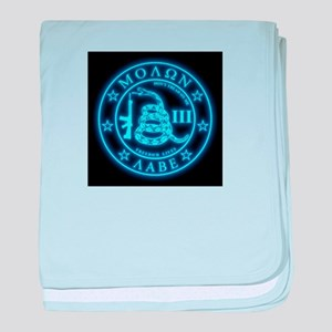 Come and Take It (Blueglow) baby blanket