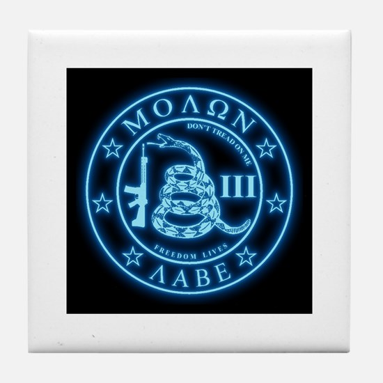 Come and Take It (Blueglow) Tile Coaster