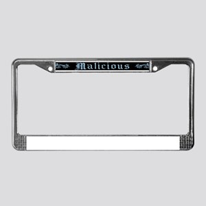 Malicious License Plate Frame