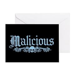 Malicious Card Greeting Cards