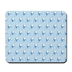 Classic Skull And Crossbones Blue Mousepad