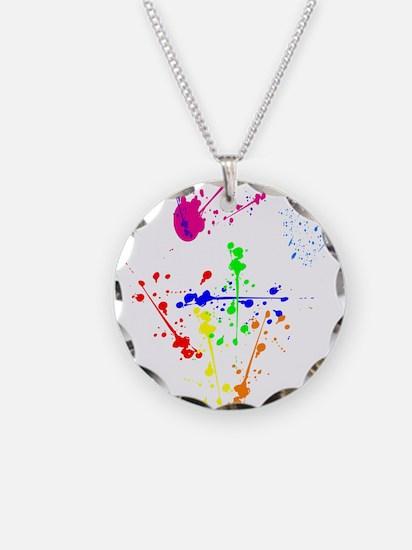 Colorful Splatter Necklace