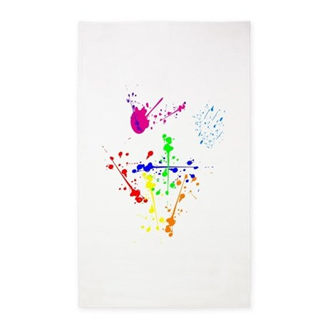 Colorful Splatter 3'x5' Area Rug