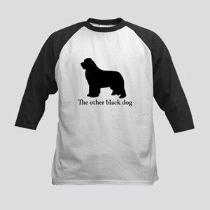 Newfoundland : The other black dog Baseball Jersey