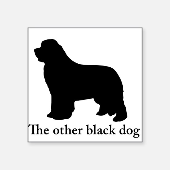 Newfoundland : The other black dog Sticker