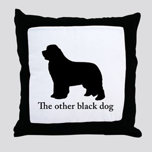 Newfoundland : The other black dog Throw Pillow