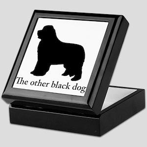 Newfoundland : The other black dog Keepsake Box
