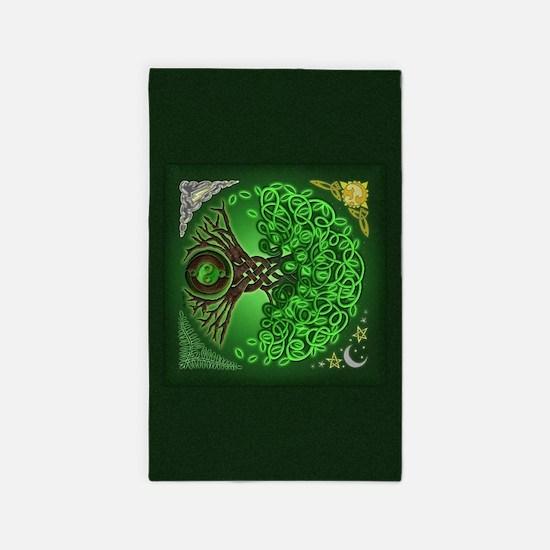 Circle Celtic Tree of Life 3'x5' Area Rug