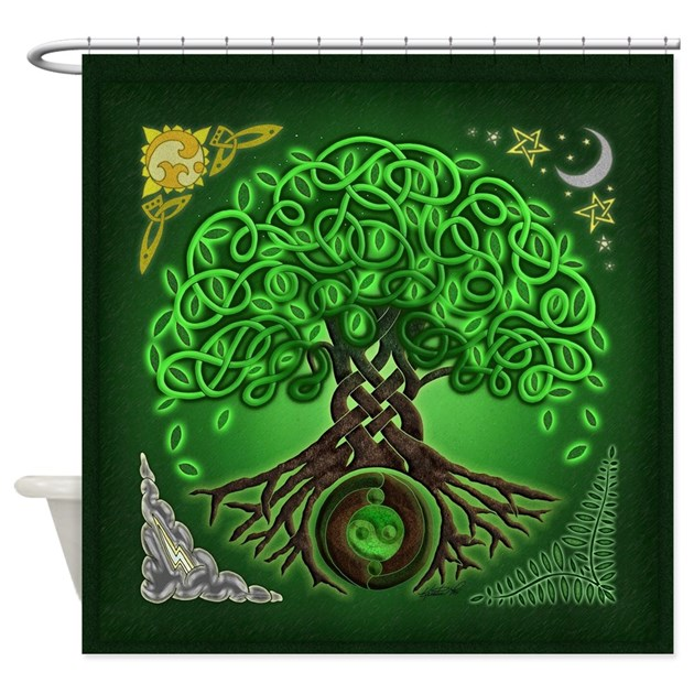 Tree Of Life Invitation Rsvp Celtic Life By: Circle Celtic Tree Of Life Shower Curtain By Artoffoxvox