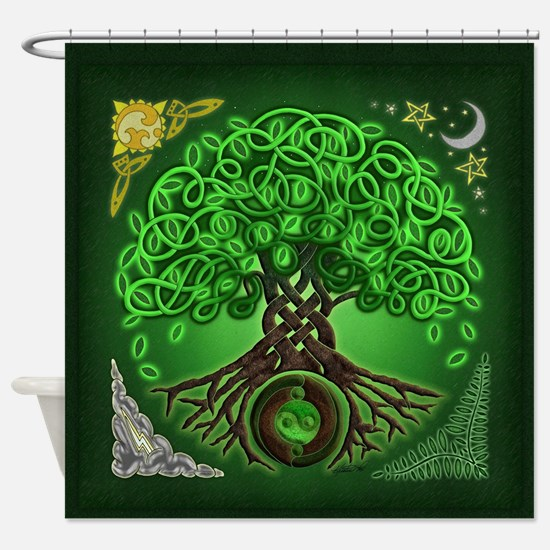 Circle Celtic Tree of Life Shower Curtain