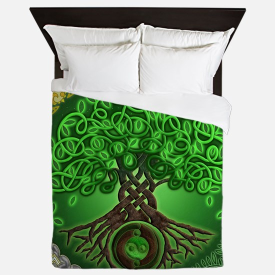 Circle Celtic Tree of Life Queen Duvet Cover