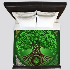 Circle Celtic Tree of Life King Duvet Cover
