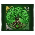 Circle Celtic Tree of Life King Duvet Cover