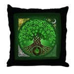 Circle Celtic Tree of Life Throw Pillow