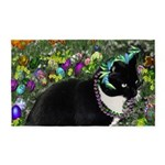 Freckles Tux Cat in Easter Eggs 3'x5' Area Rug
