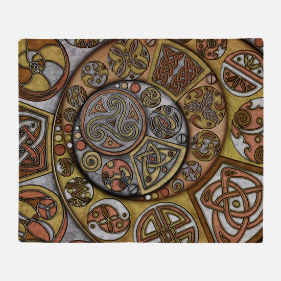 Celtic Steampunk Throw Blanket