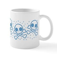 Cute Blue Skulls Mug