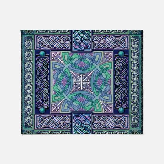 Celtic Atlantis Opal Throw Blanket