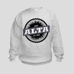 Alta Ski Resort Utah Black Sweatshirt