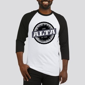 Alta Ski Resort Utah Black Baseball Jersey