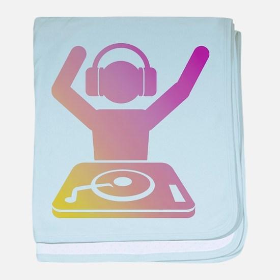 Colorful DJ baby blanket
