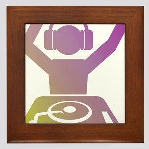 Colorful DJ Framed Tile