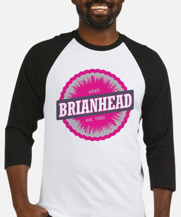 Brian Head Ski Resort Utah Pink Baseball Jersey