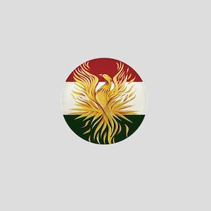 Kurdish Flag Phoenix R Mini Button