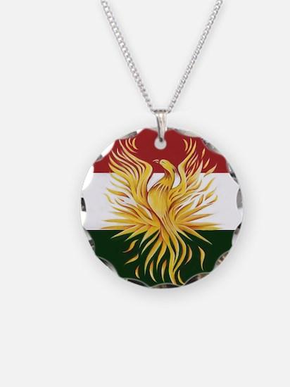 Kurdish Flag Phoenix R Necklace