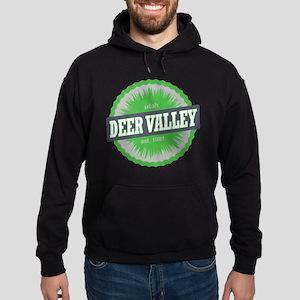 Deer Valley Ski Resort Utah Lime Green Hoodie