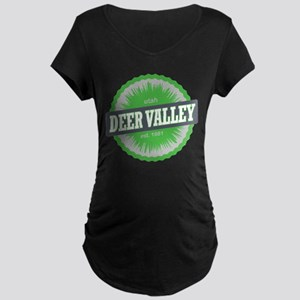Deer Valley Ski Resort Utah Lime Green Maternity T