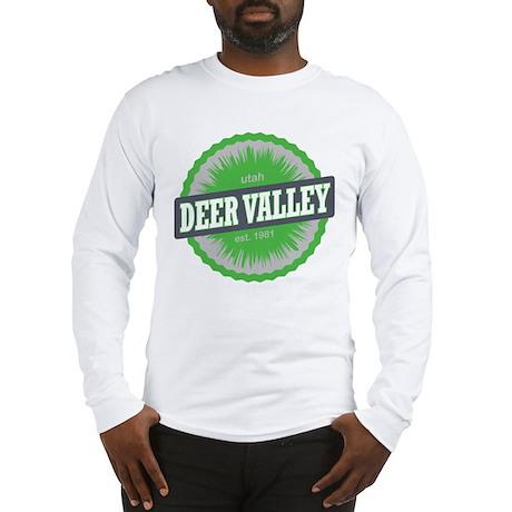 Deer Valley Ski Resort Utah Lime Green Long Sleeve