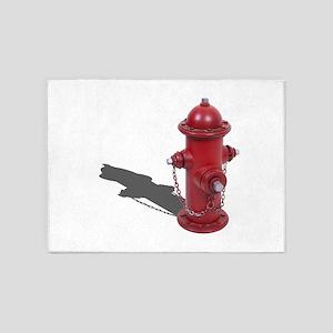 Fire Hydrant 5'x7'Area Rug