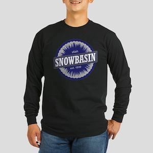 Snowbasin Ski Resort Utah Blue Long Sleeve T-Shirt