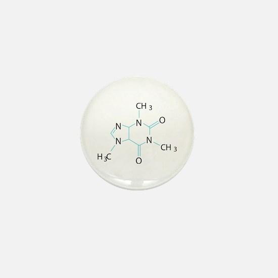 Caffeine Molecule Mini Button