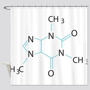 Caffeine Molecule Shower Curtain