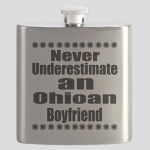 Never Underestimate Ohioan Boyfriend Flask