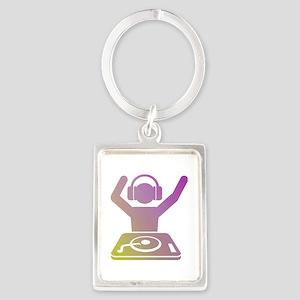 Colorful DJ Portrait Keychain