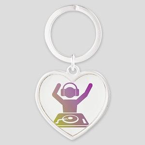 Colorful DJ Heart Keychain