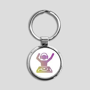 Colorful DJ Round Keychain