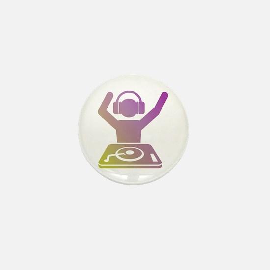 Colorful DJ Mini Button