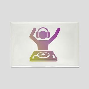 Colorful DJ Rectangle Magnet