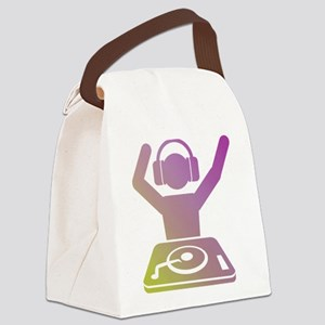 Colorful DJ Canvas Lunch Bag