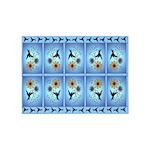 Hummingbird on Blue 5'x7'Area Rug