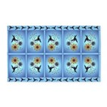 Hummingbird on Blue 3'x5' Area Rug