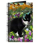 Freckles Tux Cat Easter Eggs Journal