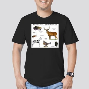 Pennsylvania State Animals Men's Fitted T-Shirt (d