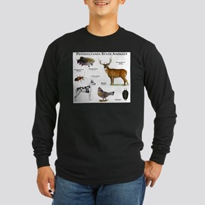 Pennsylvania State Animals Long Sleeve Dark T-Shir