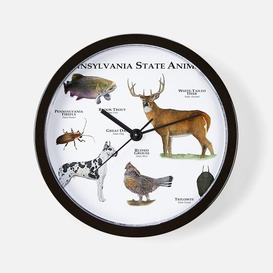 Pennsylvania State Animals Wall Clock